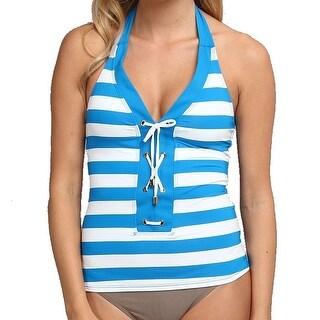 Bleu Rod Beattie NEW Blue Women's Size 8 Tankini Top Swimwear
