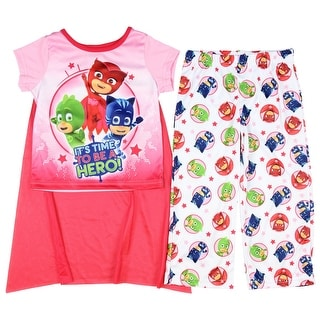 PJ Masks Girls' 2-Piece Short Pajama Set with Cape