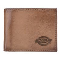 Dickies Men's Leather RFID Extra Capacity Slim Bifold Wallet - One size