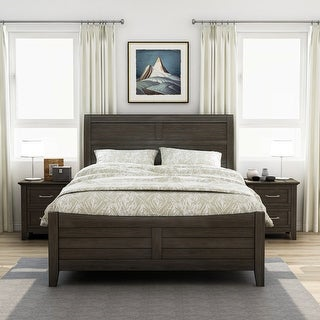 Link to Furniture of America Inyx Walnut 3-piece Bedroom Set with 2 Nightstands Similar Items in Bedroom Furniture
