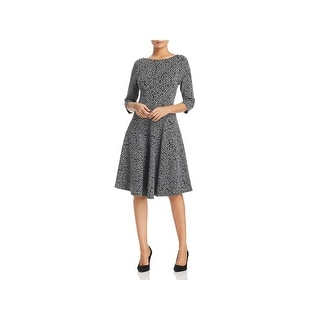 Leota Womens Circle Wear to Work Dress Knee-Length Printed