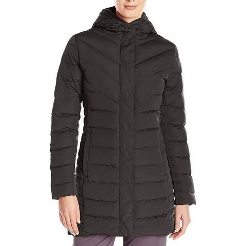 Helly Hansen Womens Jacket Black Size Large L Parka Full-Zip Hooded