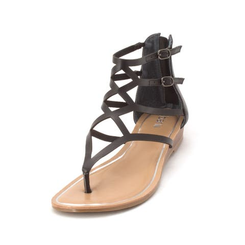 Bar III Womens Vida Split Toe Casual Gladiator Sandals
