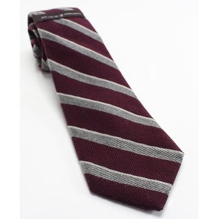 Black Brown NEW Red Burgundy Grey Textured Striped Men's Wool Necktie