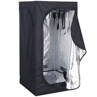 Costway Indoor Grow Tent Room Reflective Hydroponic Non Toxic Clone Hut 6 Size (32''X32''X63'')