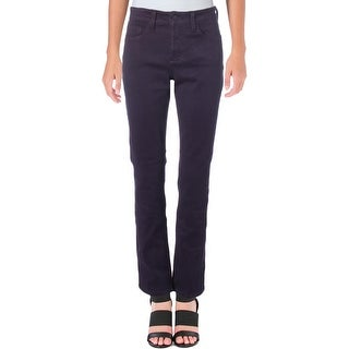 NYDJ Womens Petites Samantha Straight Leg Jeans Slim Fit Colored