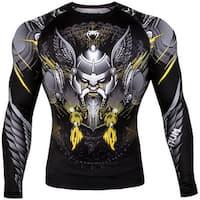 Venum Viking 2.0 Long Sleeve MMA Compression Rashguard - Black/Yellow