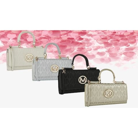 MKF Collection Vanina Milan 3 in 1 M Signature Crossbody/ Wallet Valentines Day Gifts For Her by Mia K. Farrow