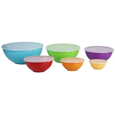 Home Basics 12 Piece Nesting Plastic Bowl Set