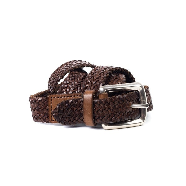 Brunello Cucinelli Womens Cognac Brown Leather Braided Belt