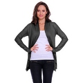 Simply Ravishing Women's Basic Long Sleeve Open Cardigan (Size: Small-5X) - Thumbnail 3