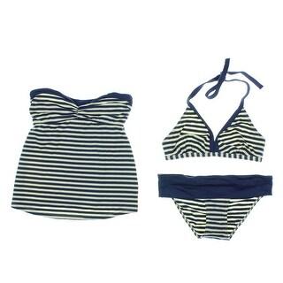 Pez D'Or Womens 3 Piece Set Tankini/Halter Bikini Swimsuit - S