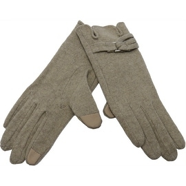 Women Wool Gloves Fingertips for Touchscreen Texting, Fall Winter, Cell Phone Text