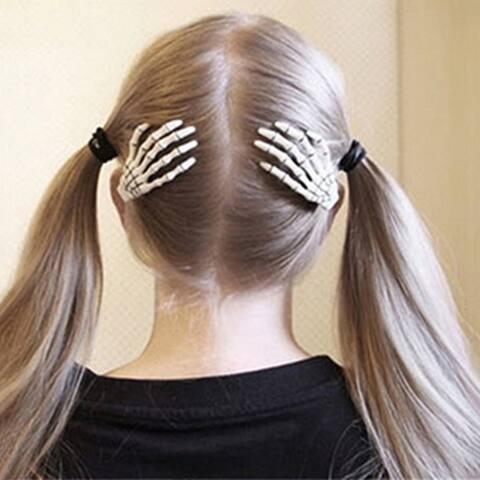 Fashion Punk Skull Paw Hairpin Exaggerated Skull Bone Hand Claws Hair Ornaments