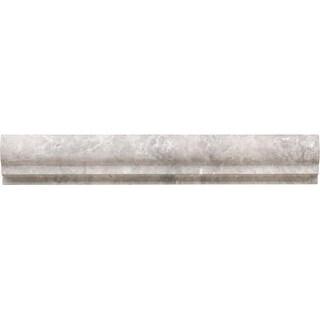 "Daltile L212CRU Limestone Collection - 12"" x 2"" Chair Rail Wall Tile - Honed Lim"
