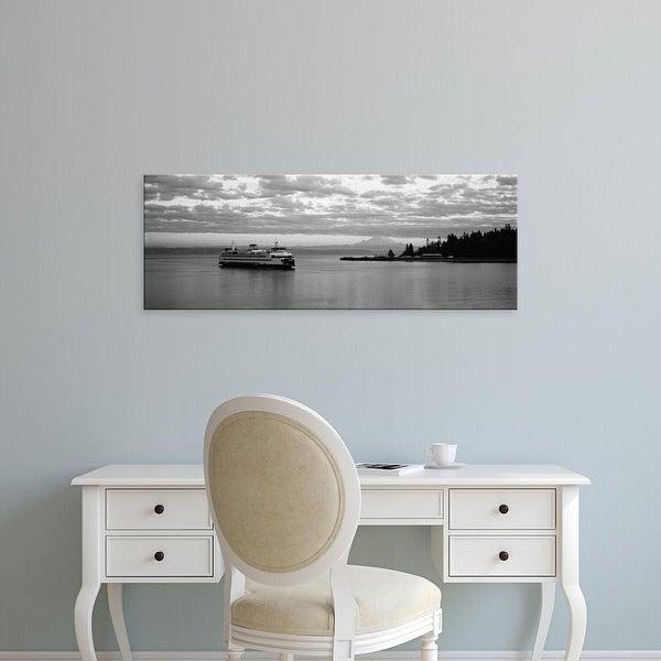 Easy Art Prints Panoramic Images's 'Ferry in the sea, Bainbridge Island, Seattle, Washington State, USA' Canvas Art