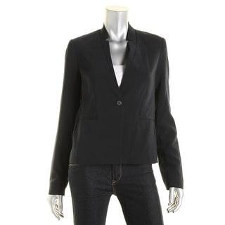Tahari Womens Tristen Notch Collar Double Vent One-Button Blazer - 4