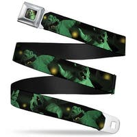 Oogie Boogie Face Close Up Full Color Oogie Boogie 4 Poses Black Yellow Seatbelt Belt