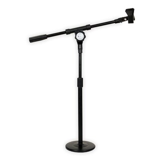 Podium Pro MS4 Tabletop Boom Microphone Stand Mic Clamp Clip Adjustable DJ Drum Stand MS4MC1