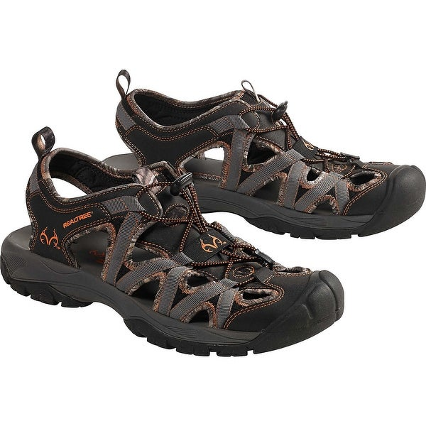 Legendary Whitetails Mens Barracuda Realtree Camo Sandal - Black