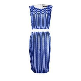 Ivanka Trump Women's Sleeveless Lace Sheath Dress - 12