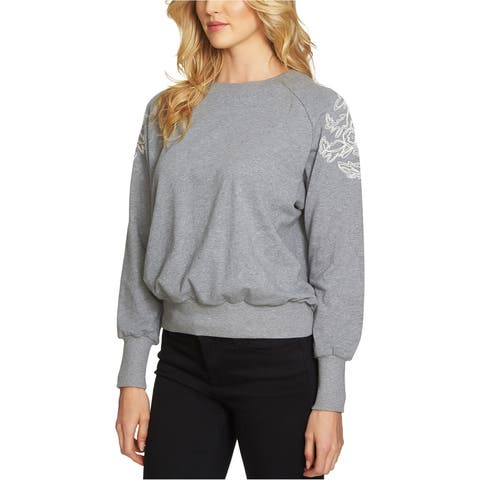 1.State Womens Embroidered Shoulder Sweatshirt