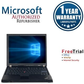 "Refurbished Lenovo ThinkPad T60 15.4"" Laptop Intel Core 2 Duo T2300 1.66G 2G DDR2 80G DVD Win 7 Home Premium 32 1 Year Warranty"