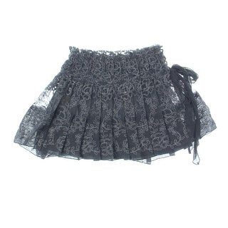 Ermanno Scervino Girls Lace Knee-Length Pleated Skirt - 6