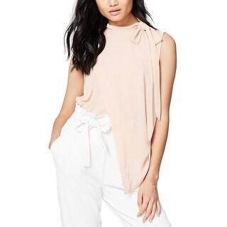 RACHEL Rachel Roy Mock Neck Asymmetrical Top Blouse Pink Opal - xL