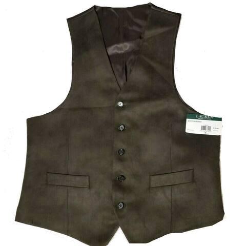 Lauren By Ralph Lauren Mens Jacket Olive Green Size Medium M Vest