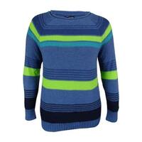American Living Women's Striped Crewneck Sweater