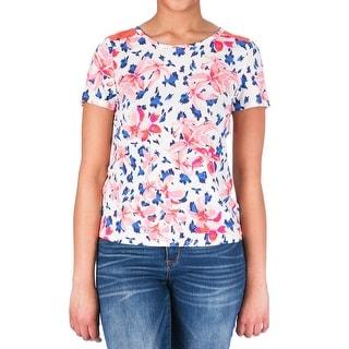 Juicy Couture Black Label Womens Island Leopard Modal Short Sleeves Sleep Tee - XL