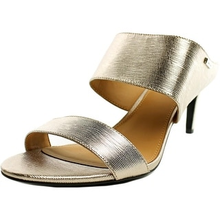 Calvin Klein Cecily Women  Open Toe Leather Gold Sandals
