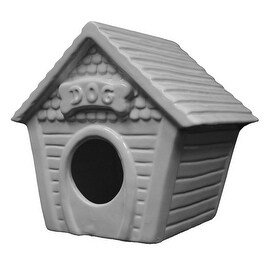 Ceramic Ready To Paint Doghouse Birdhouse by Plaid