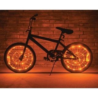 Wheel Brightz Lightweight LED Bicycle Safety Light Accessory Orange - multi