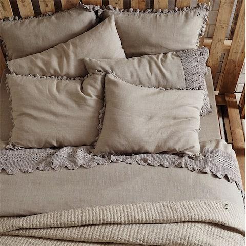 Ewing Crochet Linen Duvet Cover