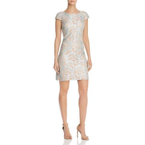 Eliza J Womens Shift Dress Lace Sequins