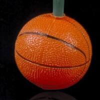Set of 10 Basketball Sport Christmas Lights - Green Wire - ORANGE