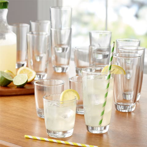 "16-Piece Drinkware Glass Set - 16.77""x 9.84""x 12.05"""
