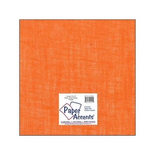 Fabric Sheet 12x12 Burlap Orange 1pc