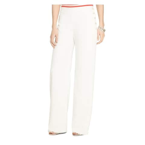 RALPH LAUREN Womens White Wear to Work Pants Size 12