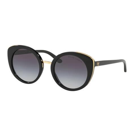 Ralph Lauren RL8165 50018G 52 Black Woman Round Sunglasses