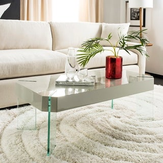 """Link to SAFAVIEH Katelyn Glass Rectangular Coffee Table - 43.3"""" W x 23.6"""" L x 15.7"""" H Similar Items in Living Room Furniture"""