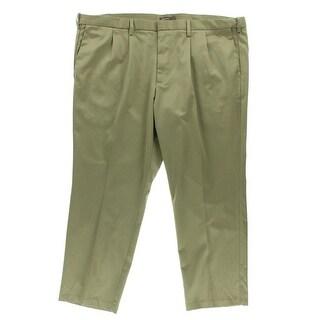 Dockers Mens D3 Twill Double Pleat Khaki Pants