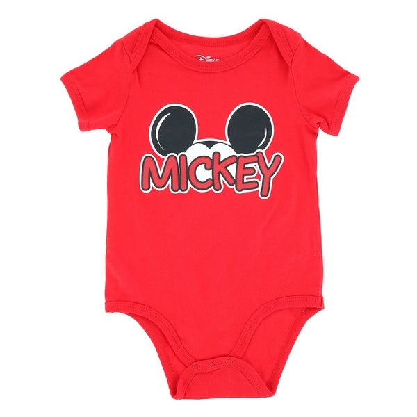Jerry Leigh Infant Mickey Mouse Short Sleeve Onesie. Opens flyout.