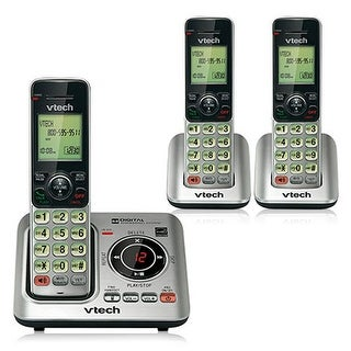VTech CS6429-3 DECT 6.0 Cordless Phone w/ Digital Answering System and 2 Extra Handsets