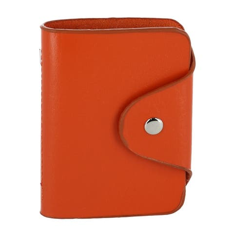 CTM® Leather Card Case Wallet with Interior Window Inserts - one size