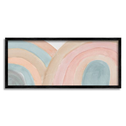 Stupell Industries Subtle Rainbow Arches Layered Blue Brown Red Framed Wall Art