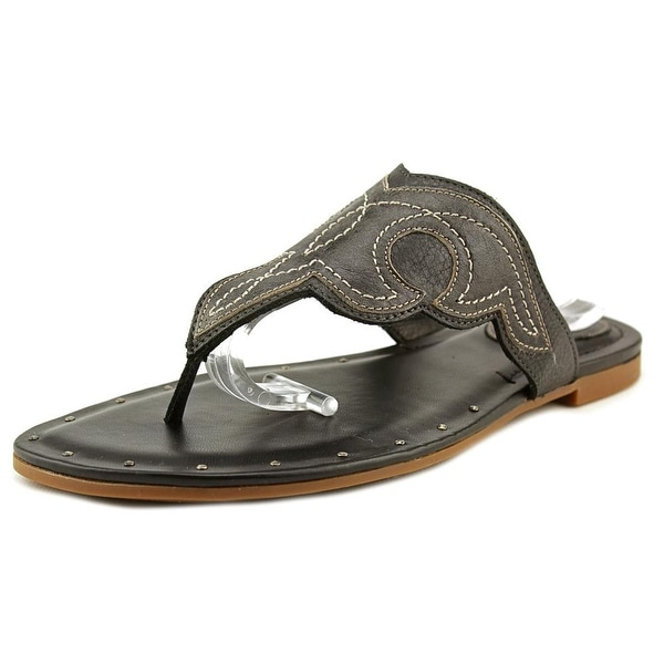 Ariat Mica Women Open Toe Leather Black Thong Sandal