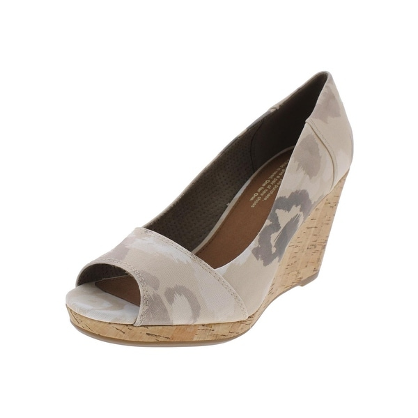 128bad863dc Shop Toms Womens Stella Wedge Heels Printed Open Toe - Free Shipping ...